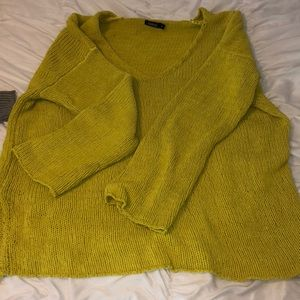 Lime green/yellow knit sweater